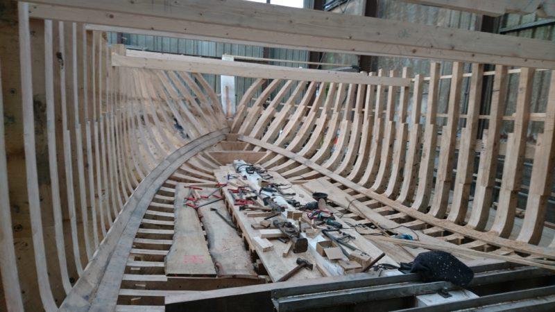 Le Goemonier STELLACH II lors de sa construction au chantier HENAFF